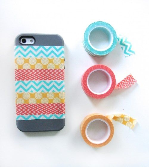 iPhone case washi tape 1